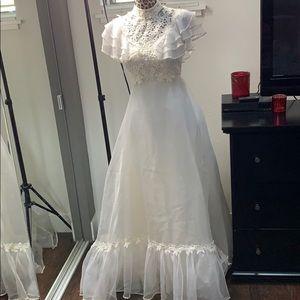 Vintage Western Lace Wedding Dress SZ 4